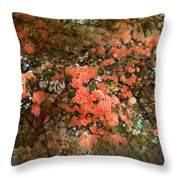 Rose 180 Throw Pillow