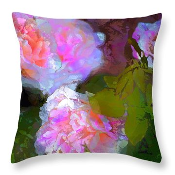 Rose 184 Throw Pillow by Pamela Cooper