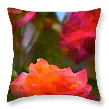 Rose 191 Throw Pillow by Pamela Cooper