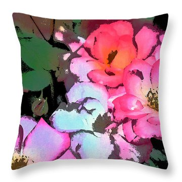 Rose 197 Throw Pillow by Pamela Cooper