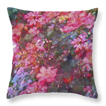 Rose 199 Throw Pillow by Pamela Cooper