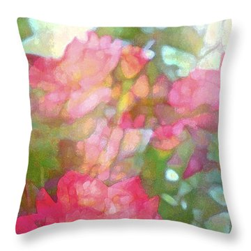 Rose 200 Throw Pillow by Pamela Cooper