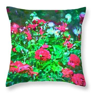Rose 201 Throw Pillow by Pamela Cooper
