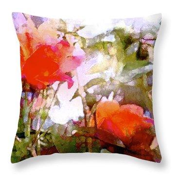 Rose 204 Throw Pillow by Pamela Cooper