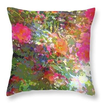 Rose 207 Throw Pillow by Pamela Cooper