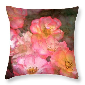 Rose 212 Throw Pillow by Pamela Cooper