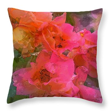 Rose 219 Throw Pillow