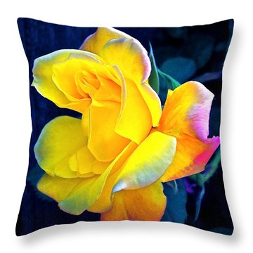 Rose 4 Throw Pillow by Pamela Cooper