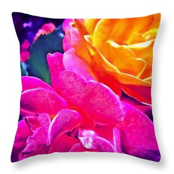Rose 49 Throw Pillow
