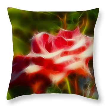 Rose 6168-fractal Throw Pillow by Gary Gingrich Galleries