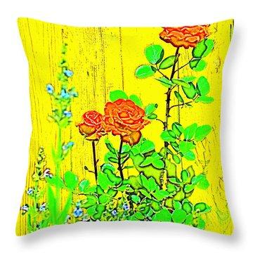 Rose 9 Throw Pillow by Pamela Cooper