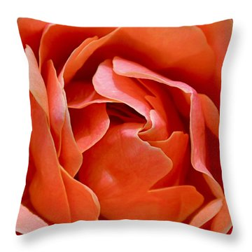 Rose Abstract Throw Pillow by Rona Black