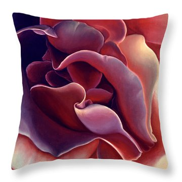 Rose Throw Pillow by Anni Adkins