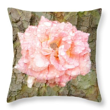 Rose Bark Throw Pillow