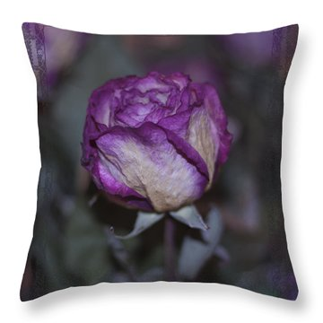 Throw Pillow featuring the photograph Rose Beauty After by Sandra Foster