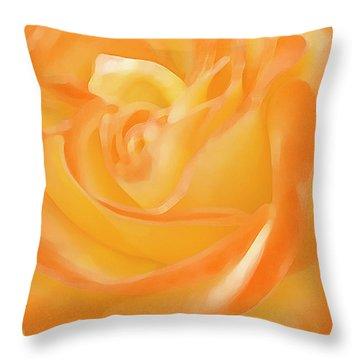 Rose Throw Pillow by Ben and Raisa Gertsberg