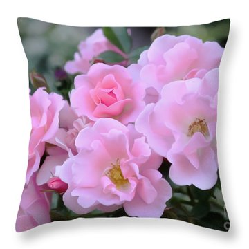 Rose Blush Throw Pillow by Erica Hanel