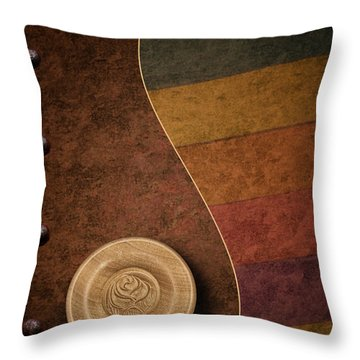 Rose Button Throw Pillow by Tom Mc Nemar