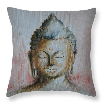 Rose Chakra Buddha Miniature Throw Pillow