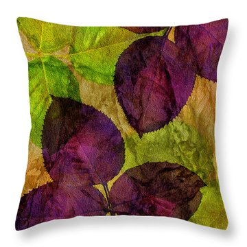 Rose Clippings Mural Wall Throw Pillow by Claudia Ellis