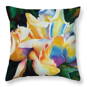 Rose Cluster Half Throw Pillow