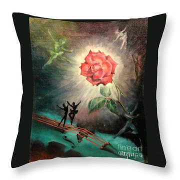 Rose Concerto  1941 Throw Pillow