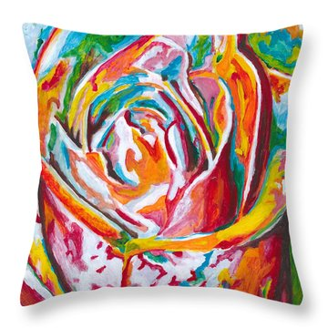 Rose Throw Pillow by Denise Deiloh
