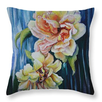 Rose Duo Throw Pillow