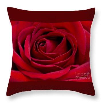 Eye Of The Rose Throw Pillow by Nick  Boren