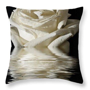 Rose Flood Throw Pillow by Steve Purnell