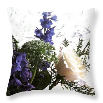 #rose #flowers Throw Pillow