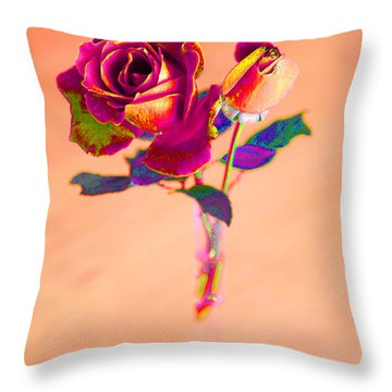 Rose For Love - Metaphysical Energy Art Print Throw Pillow by Alex Khomoutov