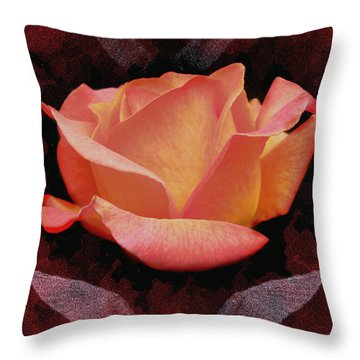 Rose From Angels Digital Art Throw Pillow by Costinel Floricel