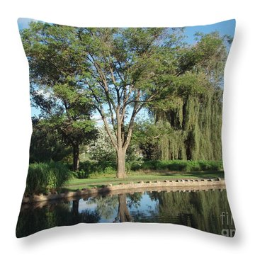 Throw Pillow featuring the photograph Rose Garden  by Jeannie Rhode