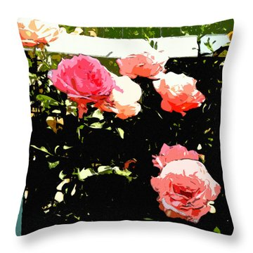 Rose Glory					 Throw Pillow