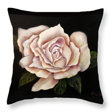 Rose Glow Throw Pillow