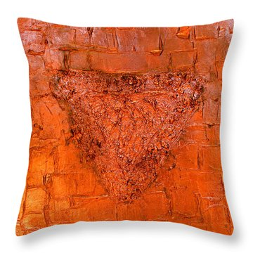Rose Gold Mixed Media Triptych Part 3 Throw Pillow