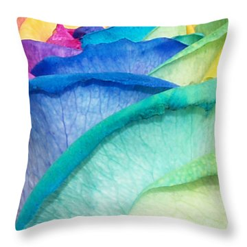 Rose Throw Pillow by Haleh Mahbod