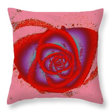 Rose Heart Throw Pillow by Anastasiya Malakhova