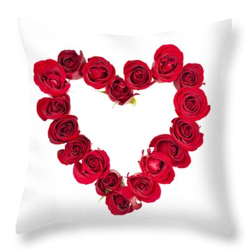 Rose Heart Throw Pillow