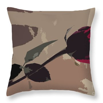 Rose In Abstract Digital Painting Throw Pillow by Minding My  Visions by Adri and Ray