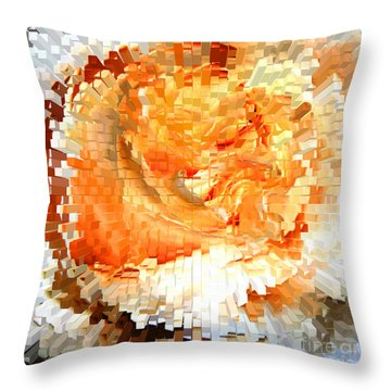 Rose In Bloom Throw Pillow by Alys Caviness-Gober