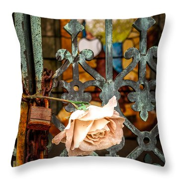 Rose In Remembrance Throw Pillow