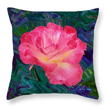 Rose In The Matter Of Your Hand V7 Throw Pillow