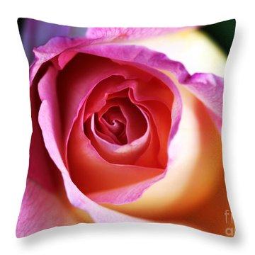 Rose Throw Pillow by John Rizzuto