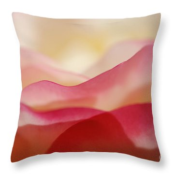 Rose Mountain Throw Pillow by Catherine Lau