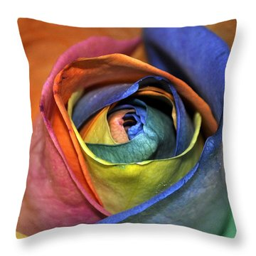 Rose Of Equality Throw Pillow by Jim Brage