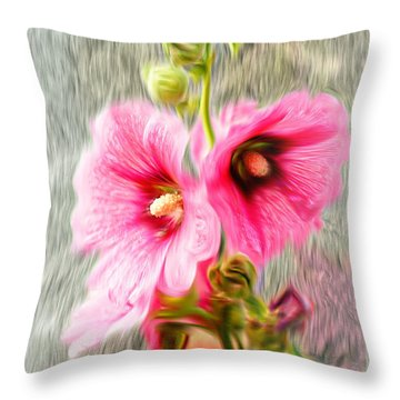 Rose Of The North Abstract. Throw Pillow by Ian Gledhill