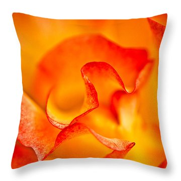 Rose Petals Closeup Throw Pillow