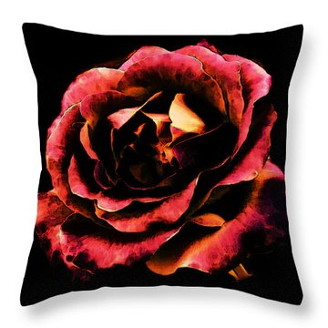 Rose Red Throw Pillow